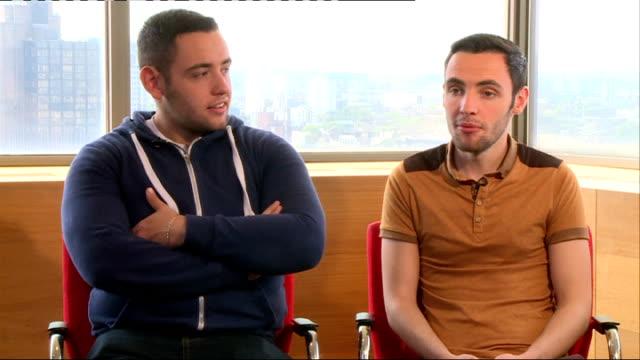 britain's got talent finalist interviews; richard and adam interview sot - finalist stock videos & royalty-free footage