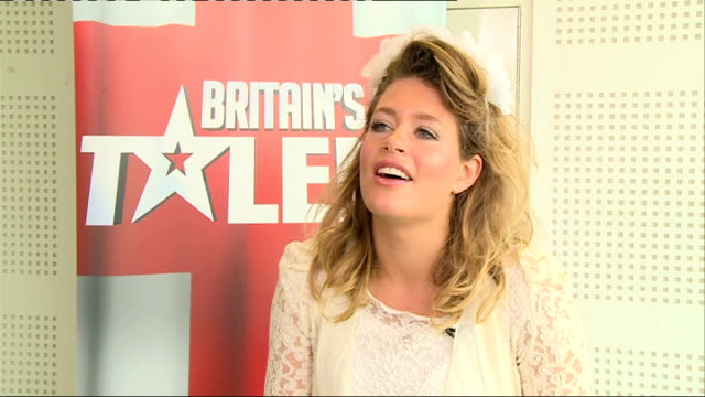 interviews; lettice rowbotham interview sot - britain's got talent stock-videos und b-roll-filmmaterial