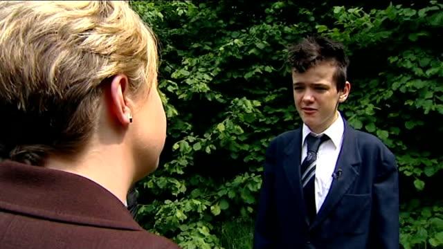 'britain's got talent' tour; warrington: int george sampson interview sot - won't change me as person, i'm still george sampson from warrington - it... - 英チェシャー州点の映像素材/bロール