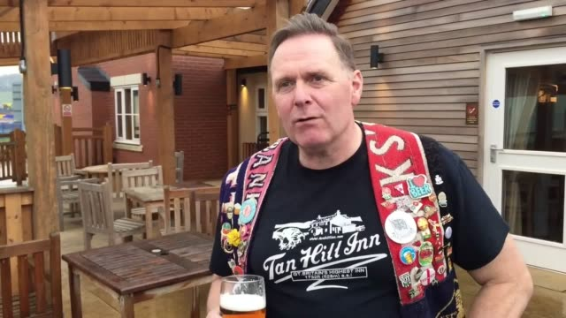 britain's most committed pubcrawlers have chalked off their 20000th boozer three decades after setting off to tour just 300 inns listed on a brewery... - ale stock videos & royalty-free footage