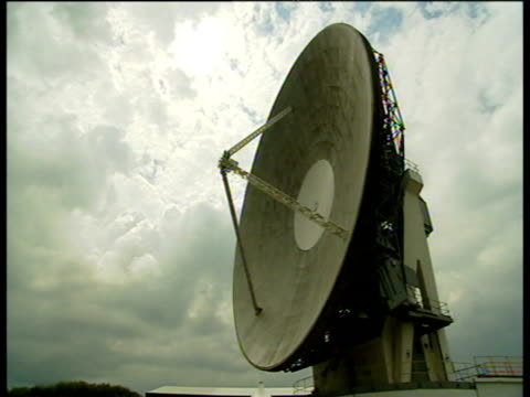 britain's oldest satellite communications dish - communication stock videos & royalty-free footage