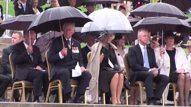 britain's prince charles marks remembrance day which commemorates those who died or suffered in war at a ceremony in canberra australia - remembrance day stock videos & royalty-free footage