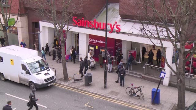 britain's second and third biggest supermarket chains sainsbury's and walmart owned asda have agreed to merge creating a £13-billion retail king that... - leapfrog stock videos & royalty-free footage