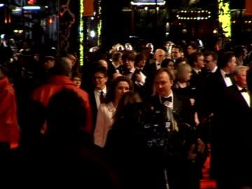 british academy film and television awards: arrivals and interviews; meredith ostrum with musician boyfriend nick rhodes amanda peet jane goldman... - ジェーン ゴールドマン点の映像素材/bロール