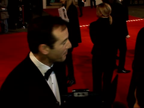 british academy film and television awards arrivals and interviews jason isaacs speaking to media samantha morton james mcavoy and annemarie duff... - jason isaacs stock videos & royalty-free footage