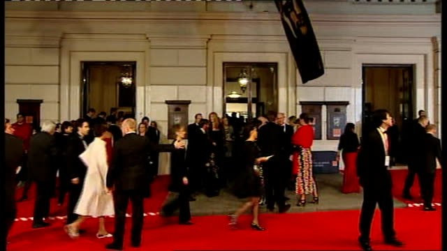 british academy film and television awards england london royal opera house ext red carpet arrivals lee majors and wife faith noelle cross jessica... - lee majors stock videos and b-roll footage