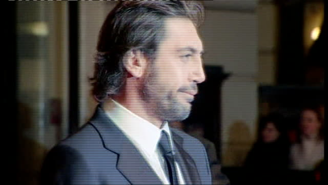 british academy film and television awards red carpet arrivals and photocalls javier bardem posing for photocall - javier bardem stock videos and b-roll footage
