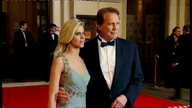british academy film and television awards red carpet arrivals and photocalls lee majors and wife faith noelle cross - lee majors stock videos and b-roll footage