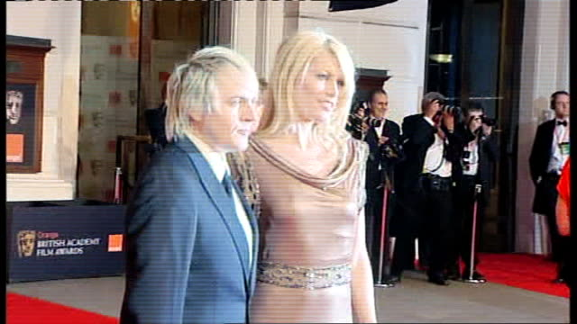 british academy film and television awards red carpet arrivals and photocalls meredith ostrum arriving with musician boyfriend nick rhodes - nick rhodes stock videos & royalty-free footage