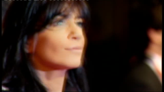 british academy film and television awards: red carpet arrivals and photocalls; television presenter claudia winkleman - クラウディア ウィンクルマン点の映像素材/bロール