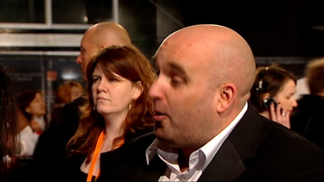 british academy film and television awards red carpet arrivals shane meadows interview sot - shane meadows stock videos and b-roll footage