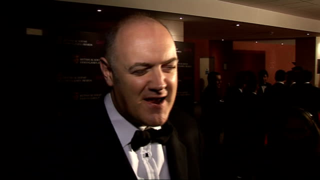 british academy video game awards: arrivals and interviews; dara o'briain speaking to press / dara o'briain interview sot - really enjoyed work he's... - dara o'briain stock videos & royalty-free footage