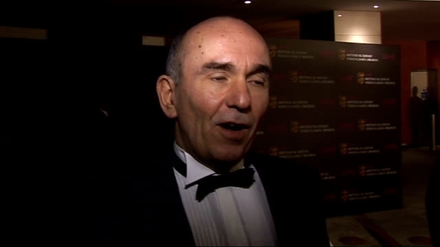 arrivals and interviews more general views of ben kingsley and wife/ general views peter molyneux / peter molyneux on awards / on games being art /... - ben kingsley stock videos and b-roll footage