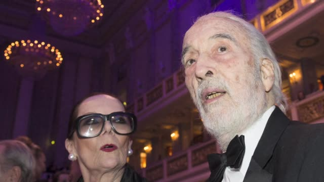 british actor christopher lee, famous for playing dracula, and villains in the lord of the rings and star wars, has died aged 93, a local government... - christopher lee actor stock videos & royalty-free footage