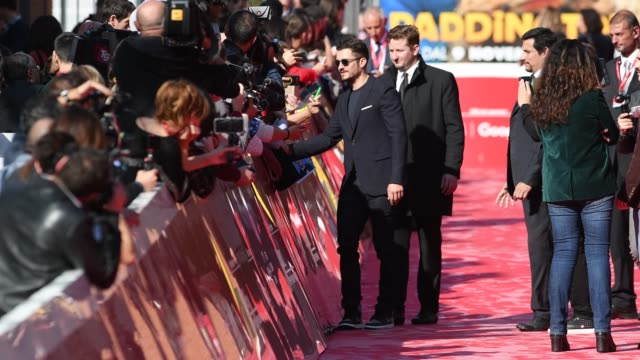 british actor orlando bloom on the red carpet for 'romans' during the 12th rome cine fest at auditorium parco della musica in rome italy on 4... - orlando bloom stock videos & royalty-free footage