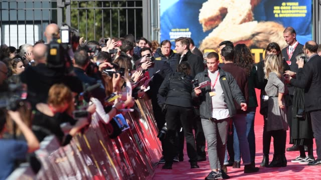 british actor orlando bloom on the red carpet for 'romans' during the 12th rome cine fest at auditorium parco della musica in rome italy on 4... - romans stock videos and b-roll footage