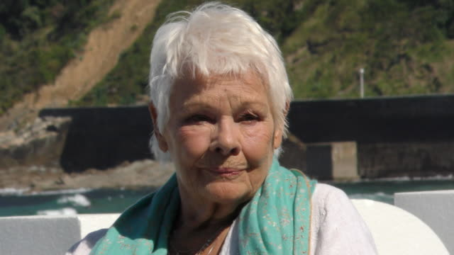 british actress judi dench attends donostia award photocall during 66th san sebastian film festival on september 25, 2018 in san sebastian, spain. - ジュディ・デンチ点の映像素材/bロール