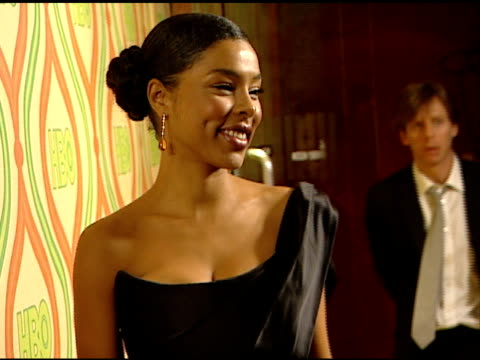 british actress sophie okonedo on carpet in beverly hilton hotel posing for photographs for press. - sophie okonedo stock videos & royalty-free footage