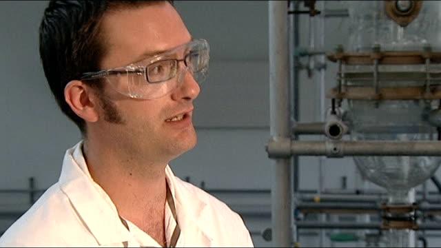 British airmen claim exposure to toxic chemicals while in Iraq Huddersfield University Sodium dichromate in petri dish Close up shot sodium...