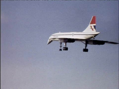 british airways concorde comes in to land 1974 - air vehicle stock videos & royalty-free footage
