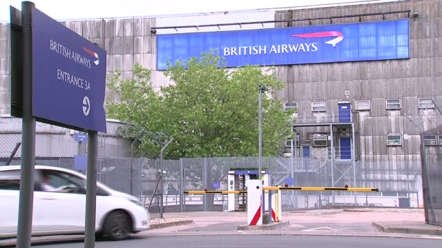 british airways critical of the transport select committee report; england: west sussex: gatwick airport: ext pull out parked british airways... - airplane hangar stock videos & royalty-free footage