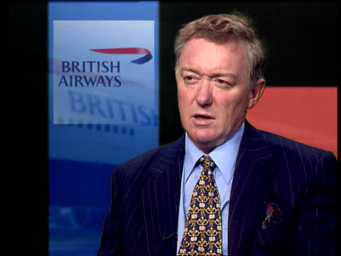 int nigel coombs interview sot talks of dented image of british airways - dented stock videos & royalty-free footage