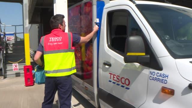 british airways pilot furloughed during coronavirus lockdown, now driving tesco online delivery van - the internet stock videos & royalty-free footage