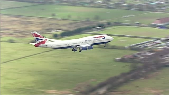 british airways planes at an airport - commercial aircraft stock videos & royalty-free footage