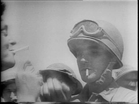 british and american bomber forces smash axis supply port and allied ground troop move in / french american and british close ring about last two... - allied forces stock videos and b-roll footage