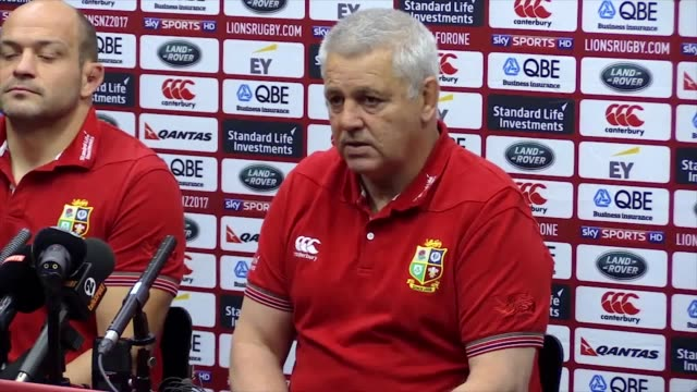 British and Irish Lions head coach Warren Gatland and Ireland captain Rory Best look ahead to Tuesday's game against the Hurricanes in Wellington In...