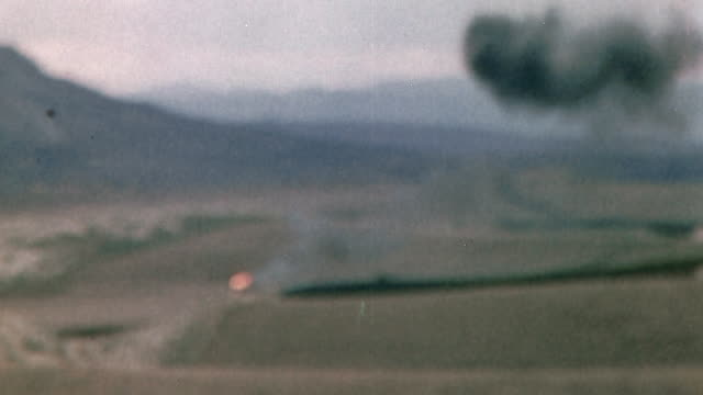 british army lorry exploding into flames during luftwaffe air raid at the soukelarba airfield during operation torch / tunisia - luftwaffe stock videos and b-roll footage
