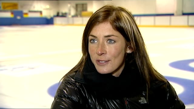 stockvideo's en b-roll-footage met british athletes medal target for sochi 2014 winter olympic games; greg drummond interview sot eve muirhead interview sot team gb women's curling... - atlete