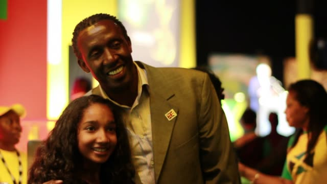 british athletics legend linford christie visits ministers and officials at jamaica house on august 03 2012 in london england - emma brumpton stock videos & royalty-free footage
