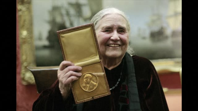 british author doris lessing, whose powerful feminist and anti colonial writing won her the nobel literature prize, died on sunday at the age of 94... - nobel prize in literature stock videos & royalty-free footage
