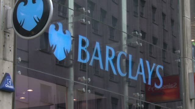 british bank barclays said tuesday that interim net profit slid 38 percent and warned it could axe some 3000 jobs this year as it slashes costs in a... - greater london stock videos and b-roll footage