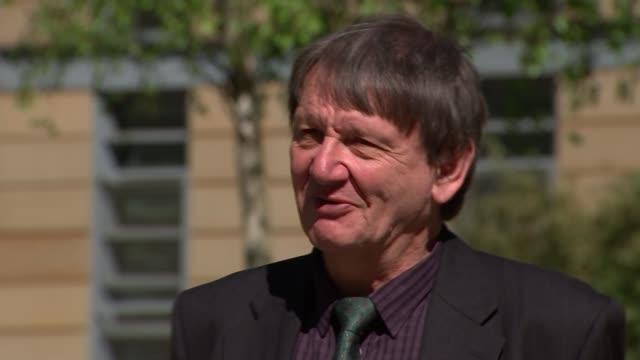 british biologist carl jones wins indianapolis prize england ext professor carl jones interview sot - environmental media awards stock videos & royalty-free footage