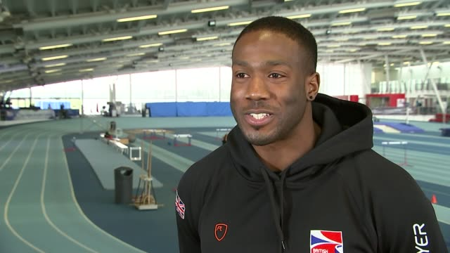 vídeos de stock e filmes b-roll de british bobsleigh olympic hopeful pays for training with quiz show money; olubi interview sot - on stress of show - concurso televisivo