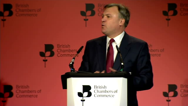 british chambers of commerce annual conference: ed balls speech; england: london: qeii centre: int **check delivery against transcript** ed balls mp... - the world's end stock videos & royalty-free footage