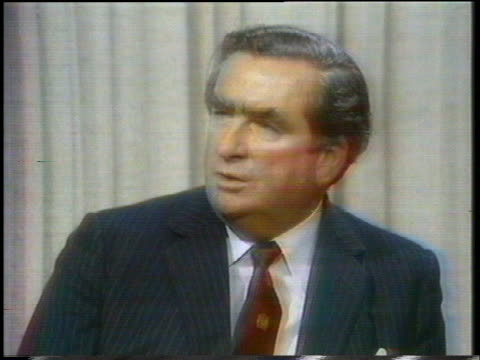 british chancellor of the exchequer denis healey says that if britain's economy falters, ripples would be felt all over the world. - business or economy or employment and labor or financial market or finance or agriculture stock videos & royalty-free footage