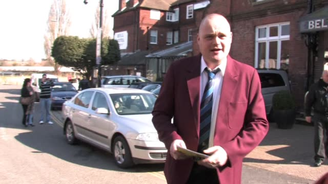 british comedian al murray adopts his most famous persona 'the pub landlord' to roam the town centre inviting people to a pub quiz as part of his... - al murray stock videos & royalty-free footage