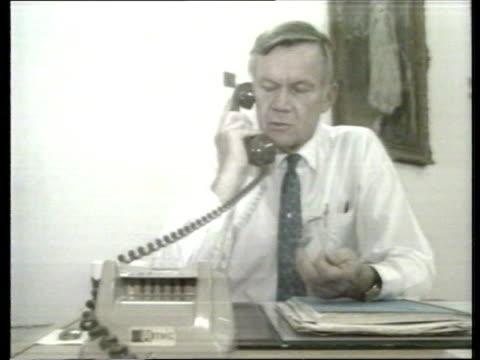 british desert convoy england gloucestershire fiona mellish kuwait epscapee intvwd iraq baghdad ext gv british embassy officials at work harold... - 1990 stock videos & royalty-free footage