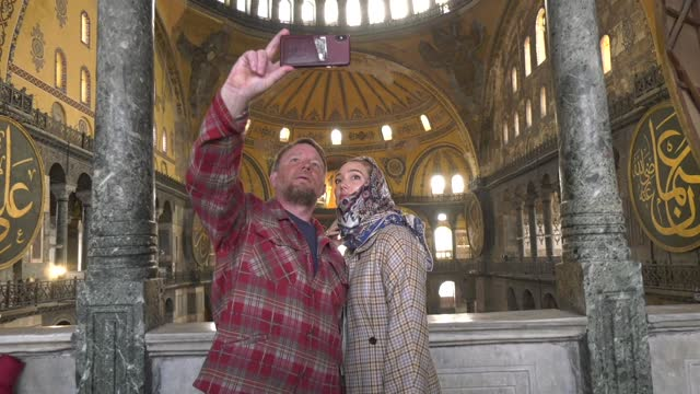 british director and screenwriter guy ritchie on sunday visited hagia sophia mosque and topkapi palace in istanbul. the world-famous director is in... - scriptwriter stock videos & royalty-free footage