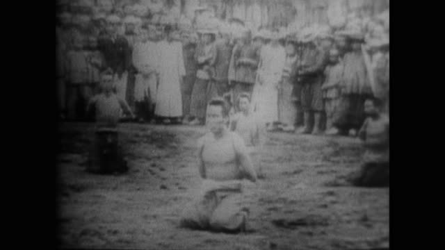 british displays of military force in china included raids by colonial soldiers and public executions of dissenters - execution stock videos & royalty-free footage