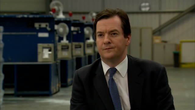 British economy grows by 06 per cent in second quarter of 2013 ENGLAND Warwickshire Rugby Tesco Daventry Distribution Centre INT George Osborne MP...