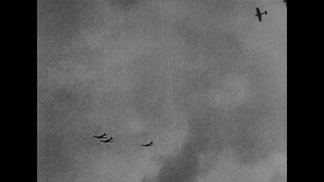 british fighter pales fighting against german dive bombers in sky - air force stock videos & royalty-free footage