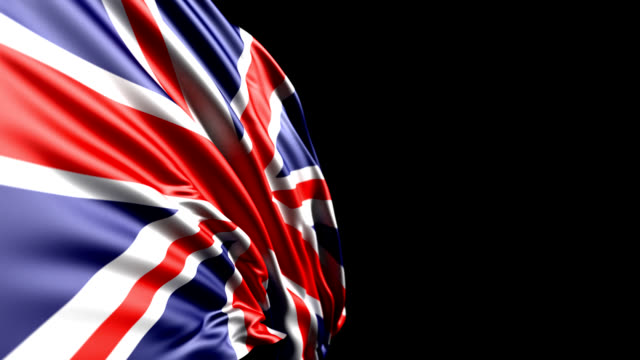 british flag hd 1080, pal, ntsc, alpha included, looping - british flag stock videos & royalty-free footage