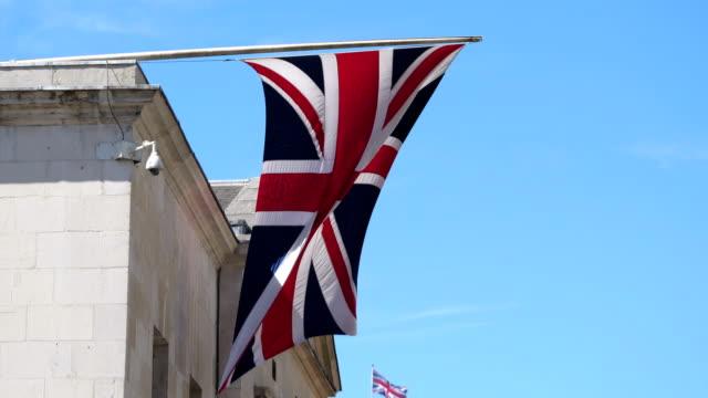 Brittiska flaggan i 4K slow motion