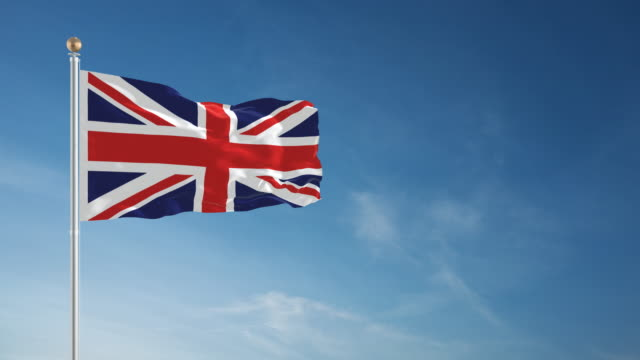 4k british flag - loopable - british flag stock videos & royalty-free footage