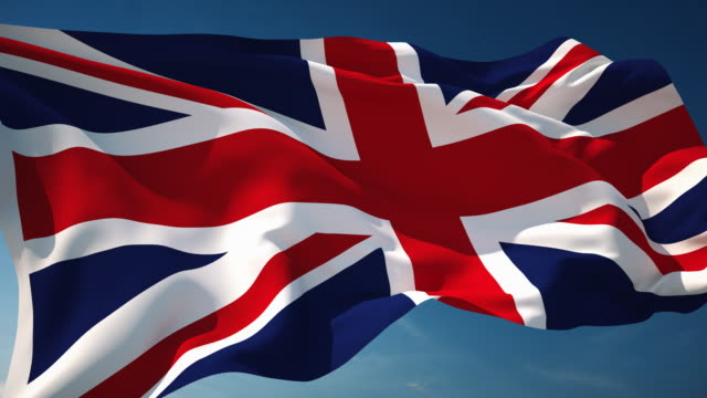 4k british flag - loopable - english culture stock videos & royalty-free footage