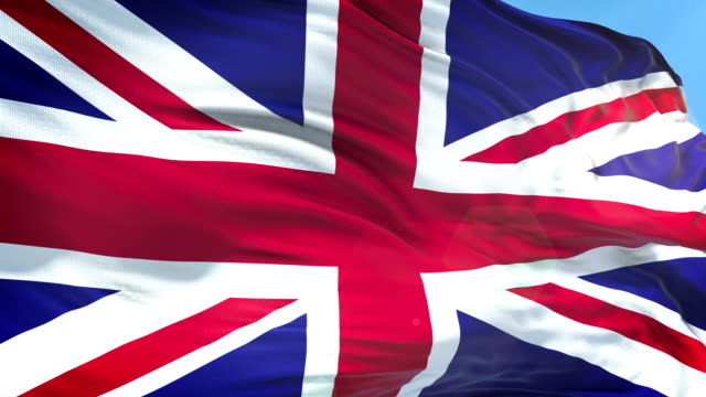 british flag - slow motion - 4k resolution - bandiera del regno unito video stock e b–roll